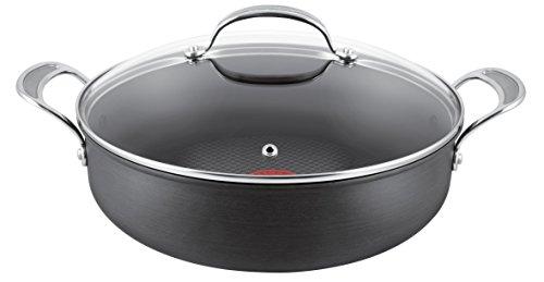 Tefal Jamie Oliver - Juego de batería de Cocina, anodizado Duro, Aluminio, Negro, 30 cm