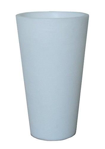 8 seasons design | Hoher Blumentopf Blumenkübel leuchtend Shining Pot rund (E27, 100 cm hoch, Ø 50 cm groß , 30l, XXL, frostsicher, innen & außen) weiß