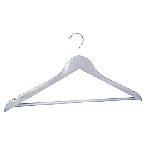 LIUQIAN Kleiderbügel Kleidung Rack Licht grau Lack solide Holz Erwachsenen Bekleidungsgeschäft Hotel Klamotten Herren Vorratshaltung Wind und Anti-Rutsch - Hotel Rack