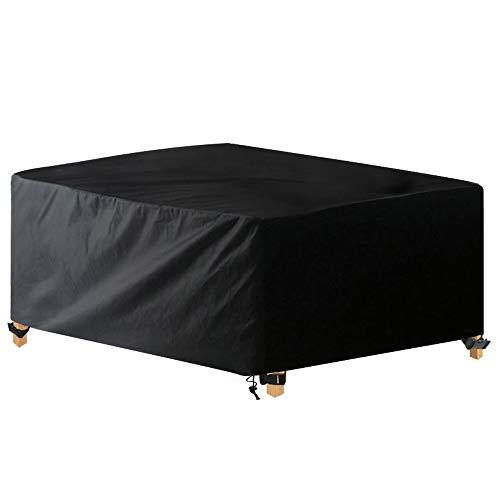 Awnic Schutzhülle für Gartentisch Abdeckung für Möbelsets 6 bis 8 Sitze Reißfest Wasserdicht 210D Oxford 170X95X71cm