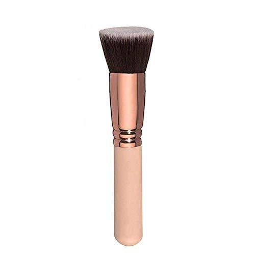 TYY-guang Flat Top Foundation Pinsel Große Gesichts-Bürste für flüssige Sahne Powder Make Up Kosmetikapplikators weiche dichte Bürste Rose Gold (Es Cosmetics Foundation Pinsel)
