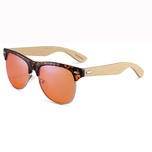 Blau lichtundurchlässige Brille, Leichtes UV-Filter Objektiv, klassische Runde für Männer Frauen Anti-Augen-Stamm Anti Blue Ray-Leseaugengläser für Frauen/Männer Bambus-3