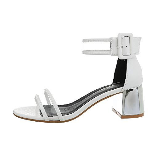 uhe Sandalen & Sandaletten High Heel Sandaletten Synthetik Weiß Gr. 40 ()