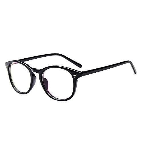 Forepin® Unisexe Monture Lunettes de Vue Retro Homme et Femme Vintage Cadre Frame Lentille Claire Transparent - Noir