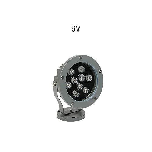 IP66 Impermeabile 9W 18W LED Spotlight for esterni Giardino Luce Lanterna di vetro for prato giardino Yard Pathways Engineering Lampada di proiezione a LED (Color : 6500K-9W)