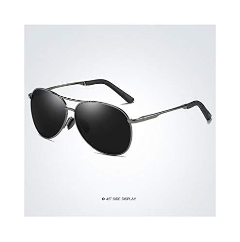 Duhongmei123 Mode Brillen Polarisierte Sonnenbrille Fahren Angeln Sonnenbrille Fahren Sonnenbrille Retro Sonnenbrille Männer UV400 Womens Occhiali (Color : Gun+Gray)