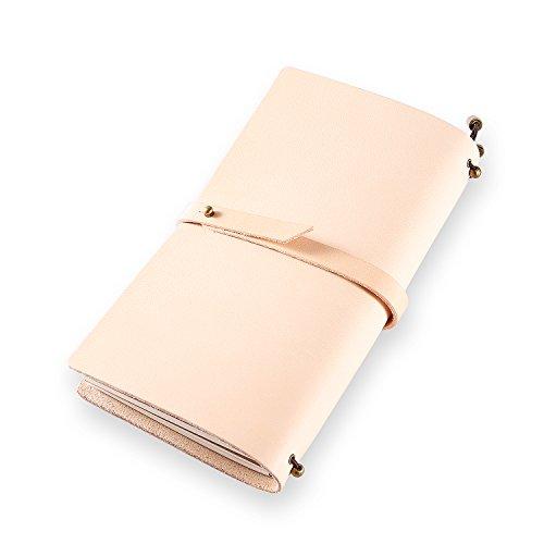 Klassisches Notizbuch/Tagebuch aus echtem Leder, mit nachfüllbaren Seiten, 100 {6841034ed65b048b77ac19ac89eafc3ef20b68b7f8a59188ee3e88460554df8d} handgefertigt, Geschenk, Reisetagebuch, Tagebuch, von ScrodCat L pink-line2