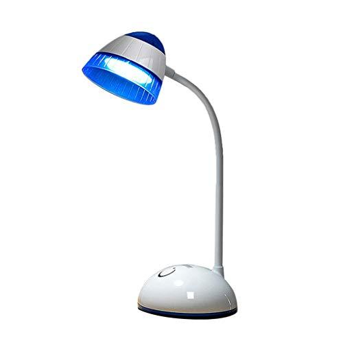 Lampe de Lecture à Del pour la Protection des Yeux à Gradation Progressive, câble de Chargement USB Couleur à Trois Niveaux, Rechargeable, Multi-Angle (Couleur : A)