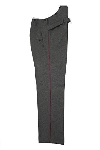 militaryharbor WW2 WWII German Heer Officer Panzer Waffenrock Stone Grey Wool Dress Pants - Grau - 42 - Us Fallschirmjäger Kostüm