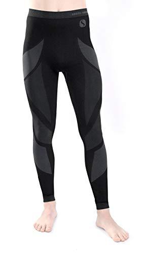 Sesto senso® uomo intimo termico pantaloni lunghi funzionale sottopantaloni leggings biancheria intima termoattivo (xl, grigio)