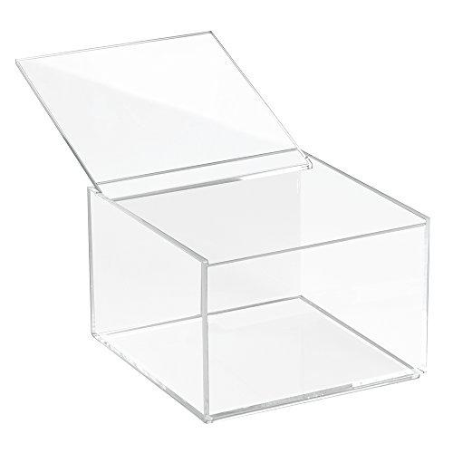 iDesign 39630EU Clarity Aufbewahrungsbox mit Deckel Medium, 10 cm Hoch, durchsichtig