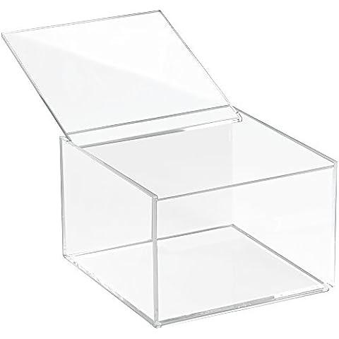 InterDesign 10 cm mueble de almacenaje e instrucciones para hacer claridad alto caja de almacenaje con
