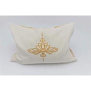 Kissen mit der Lotusblüte/Kräuterkissen/Natrurfüllung/Zirbe/natürlicher Schlaf/optimale Körperanpassung/alles waschbar