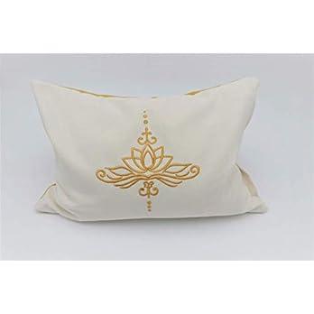 Kissen mit der Lotusblüte/Kräuterkissen/Naturfüllung/Zirbe/natürlicher Schlaf/optimale Körperanpassung/alles waschbar