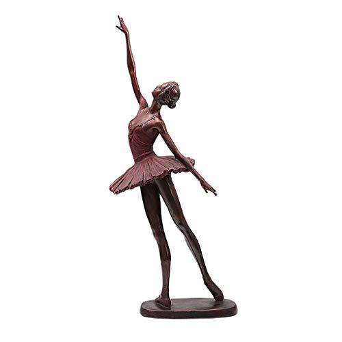 JIJIHAO gongyipin Danza Mujer Decoración del Hogar Escultura Sala De Estar Dormitorio Salón Pasillo Decoración Chica Resina Obra (Tamaño : B: 19cm × 8cm × 47.5cm)