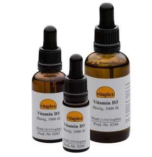 Vitamin D3 flüssig, 1.000 IE, 30 ml (810 Tropfen)