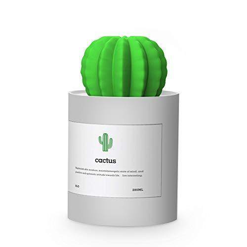 Humidificador Ultrasónico, Moojay Cactus Humidificador Negativo de Iones de Oxígeno del USB 280ml(Gris)