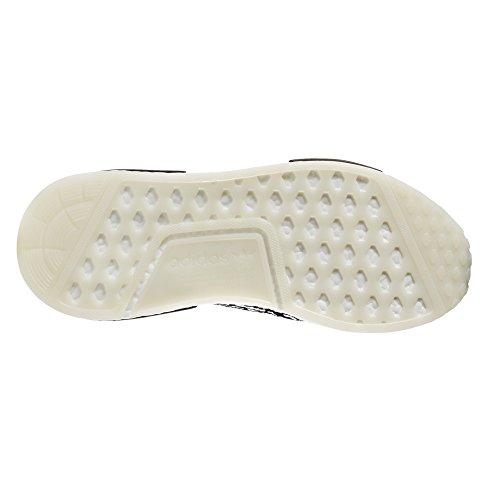 adidas Original NMD_r1 PK, Primeknit Sneaker. Schuhe Herren Low-Top Core Black/white (Sashiko)
