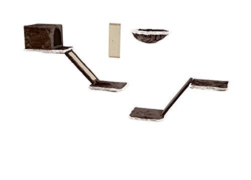Silvio Design Katzen-Kletterwand 8-tlg. dkgrau - hlgrau