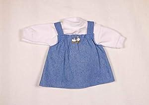 Moda de muñecas Sturm 7160-2 Nickipulli con Falda Vaquera para muñecas, Color Blanco