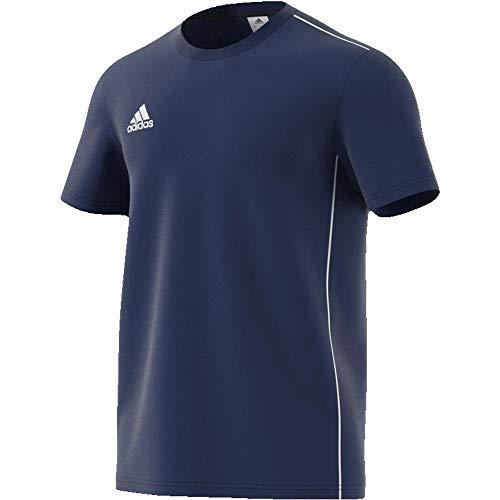 Adidas core18 tee, t-shirt uomo, dark blue/white, 2xl