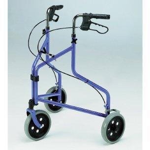 Lightweight Tri-Wheel Walker with Loop Brakes