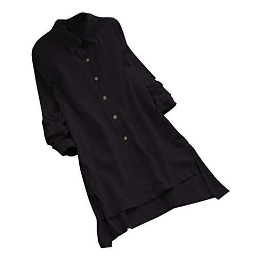 JiaMeng Bluse e Camicie da Donna - Moda Casual Manica Lunga di Grandi  Dimensioni cd31492c2a3a