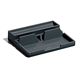 Durable 761358 VARICOLOR Desk Organiser, Compact Stationery Storage Tray with Phone/Table Mount - Charcoal