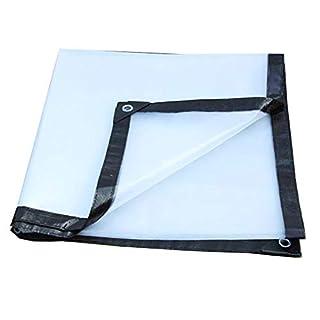 Zfggd Tarpaulin Tarpaulin Outdoor Tarpaulin Sunscreen Fabric Transparent Tarpaulin Tear Resistant Foldable Plastic (Size : 6x5m)