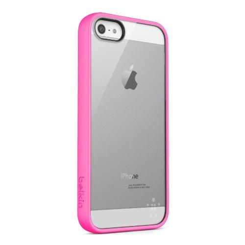 Belkin Candy Case TPU/Acryl-Schutzhülle für iPhone 5/5s rosa/durchsichtig Belkin View Case
