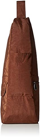 AmeriBag Small Distressed Nylon Healthy Back Bag,Brown,one size