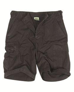 Mil-Tec Us Bermuda Shorts Prewash - Schwarz - Größe wählbar