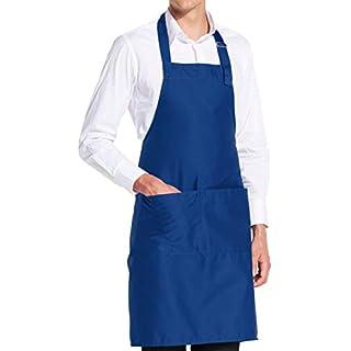 vanVerden - Premium Schürze - Blau Blanko - Blaue Latz-Schürze
