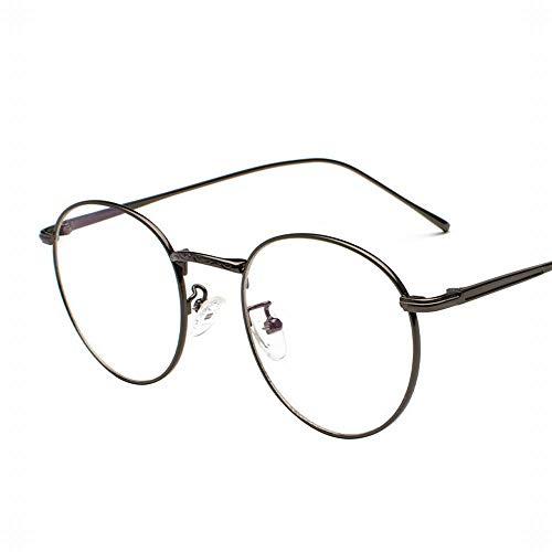 WULE-RYP Polarisierte Sonnenbrille mit UV-Schutz Runde Rahmen Brillengestell Frauen/Männer Retro Runde Gesicht flachen Spiegel Kick Ball Myopie Rahmen. Superleichtes Rahmen-Fischen, das Golf fährt