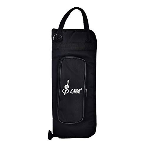 Holder Bacchetta del sacchetto della cassa Bacchette Percusssion Tamburo Borsa Mallet con tasca esterna e Floor Tom Ganci, Nero lsmaa (Color : Black)