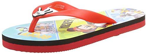 Mickey Boy's Red Flip-Flops-5 Kids UK/India (22 EU) (MMPBFF0781)