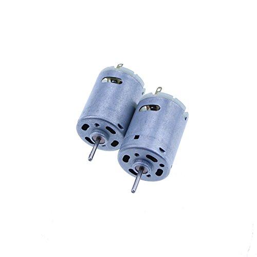 SWHstore 2pcs 385 DC 6v-24V Micro Strong Magnet Carbon Brush DC Motor for  DIY Toys