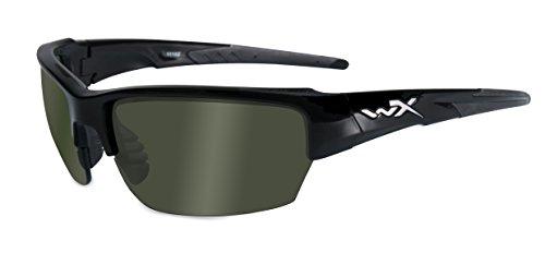 Wiley X Schutzbrille WX Saint aus der Changeable-Serie, Glänzend Schwarz, S-M, CHSAI04
