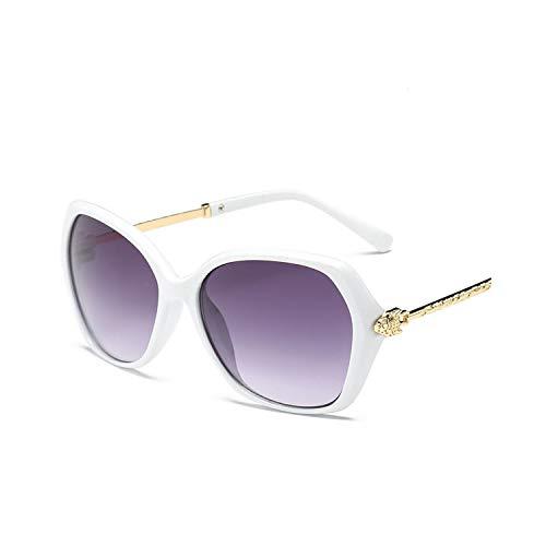 Sport-Sonnenbrillen, Vintage Sonnenbrillen, NEW Big Frame Sunglasses Women Brand Design Luxury Classic Sun Glasses Party Travel Lunette De Soleil Femme White Gray