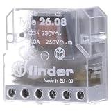 Finder serie 26 - Rele encastrado desviación 4 sector 230vac
