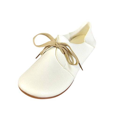 OHQ Ballerine Scarpe Da Donna Scarpe Da Ballo Comode Da Donna Morbide Scarpe Da Barca Casual Scarpe Piatte Solide Scarpe Piatte Primavera Scarpe Piatte Antiscivolo bianca
