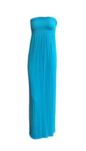 DITZY FASHION - MyMixTrendz Robe Femme Maxi-Longue Bustier Bandeau Style Tube Voile Fluide Uni - TURQUSIE