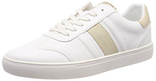 ESPRIT Damen Nicolette LU Sneaker, Weiß (White 100), 36 EU