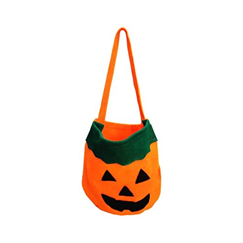 Elistelle Halloween Kürbis Handtasche Tasche Trick oder Treat Süßigkeiten Tasche für Kinder Halloween Party Kinder