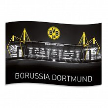 Borussia Dortmund BVB 14133000 Zimmerfahne Signal Iduna Park 140x90cm Mehrfarbig 140 x 90 x 1 cm