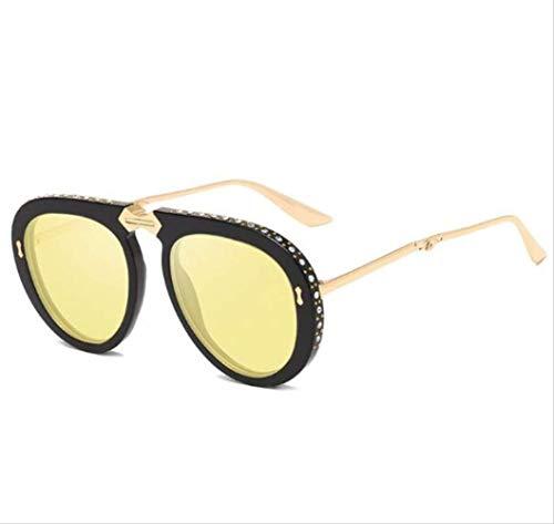 Schwarz Faltbare Sonnenbrille Aviation Style Transparent Crystal Trim Sonnenbrille Herren Shades Nette Sonnenbrille 1