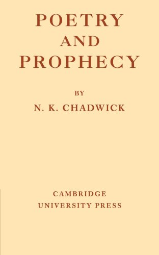 Poetry and Prophecy Paperback por Chadwick