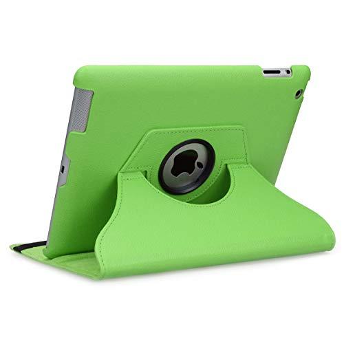 doupi Deluxe Schutzhülle für iPad 2 3 4, Smart Case Sleep/Wake Funktion 360 Grad drehbar Schutz Hülle Ständer Cover Tasche, grün (Drehbare Ipad 2 3 4 Fall)