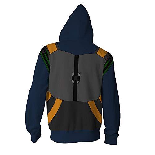 RJHWY 3D Hoodie Sweatshirt Unisex Pullover Kapuzenjacke Kleidung Mantel Reißverschluss Black Panther XS