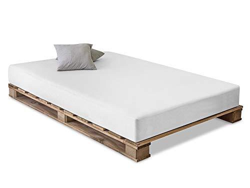 PALETTI Massivholzbett Holzbett Palettenbett Bett aus Paletten - Rustikal gebeizt